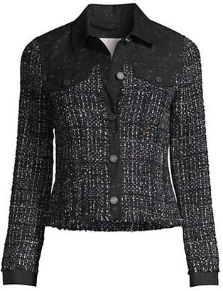 Rebecca Taylor Denim Tweed Jacket