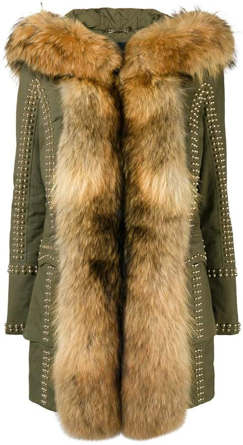 Philipp Plein fur trimmed coat