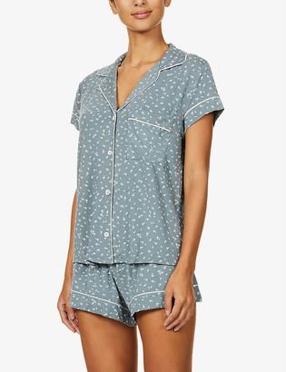 Eberjey Bloom floral-print stretch-jersey pyjama set