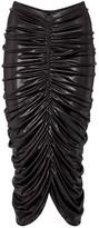 Thumbnail for your product : Norma Kamali Stretch-lamA midi skirt