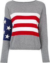 Twin-Set top with US flag detail - women - Cotton/Polyamide/Viscose/Wool - XS