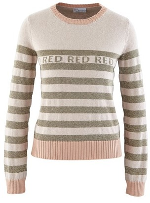 RED Valentino Striped logo jumper