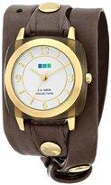 La Mer Women's LMACETATE002 Smokey Quartz Acetate Wrap Watch