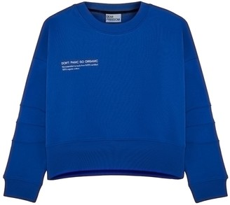 Dear Freedom Blue Cropped Sweatshirt - Don't Panic Go Organic
