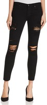 AG Jeans The Legging Ankle Distressed Jeans in Darkest Night