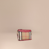 Burberry House Check and Leather Clutch Bag
