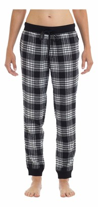 Joe Boxer Women's Tie Plaid Flannel Pant Sleepwear