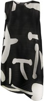 Pleats Please Issey Miyake abstract print flared dress