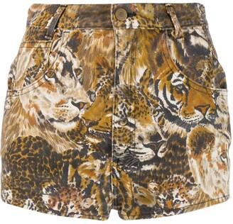 Kenzo Pre-Owned Felins printed shorts