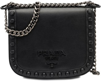 Prada Pionniere studded shoulder bag