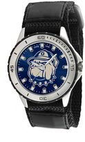 Game Time Veteran Series Georgetown Hoyas Silver Tone Watch - COL-VET-GRG