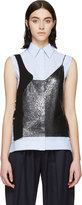 Paco Rabanne Black Metallic Mesh Tank Top