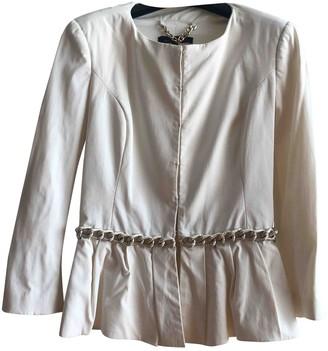 Elisabetta Franchi White Jacket for Women