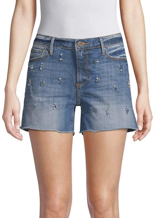 Driftwood Women's Connie Embellished Denim Shorts