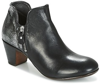 Moma KENIA-NERO-VULCANO-ARGENTO women's Low Ankle Boots in Black
