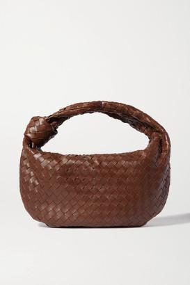 Bottega Veneta Jodie Small Knotted Intrecciato Leather Tote - Dark brown