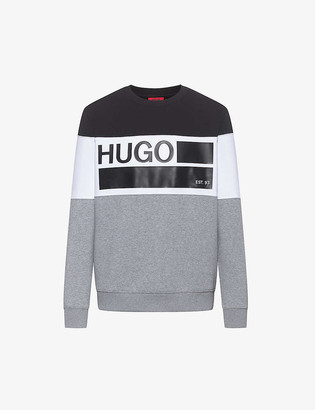 HUGO BOSS Logo-print cotton-jersey sweatshirt