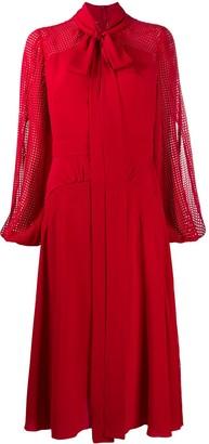 No.21 Pussy-Bow Mid-Length Dress