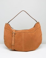 Pieces Suede Slouchy Shoulder Bag