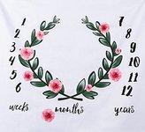 LAGHCAT Newborn Baby Swaddle Blanket Birthday Photography Thin Blanket Milestone Infant Kids Photo Props (Baby size, #006)