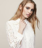Reiss Yasi - Lace Shirt in White, Womens