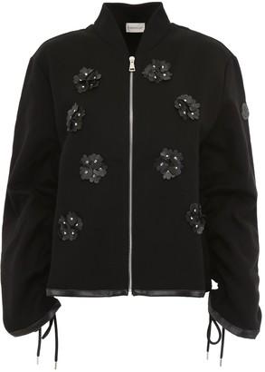 MONCLER GENIUS Moncler X Noir Kei Ninomiya Floral Applique Bomber Jacket