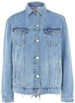 Tall elbow rip denim jacket