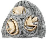 Diane von Furstenberg Woven Sequined Hat