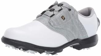 Foot Joy FootJoy Women's DryJoys Boa Golf Shoes White 8.5 M Black Print US