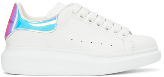 Alexander McQueen White Holographic Oversized Sneakers