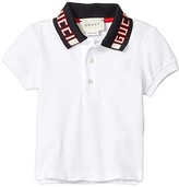 Gucci Kids Polo 522346X9T65 (Infant) (Optic White/Navy/Red) Boy's Clothing