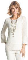 Chico's Jasmine Lace-Trim Pullover Sweater