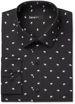Bar III Men's Slim-Fit White Elephant Print Dress Shirt, Only at Macy's