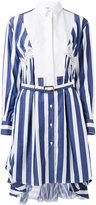Sacai striped shirt dress - women - Silk/Cotton/Nylon - 1