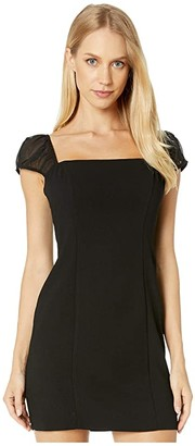 BCBGeneration Shirred Sleeve Dress GEF6226034 (Black) Women's Dress