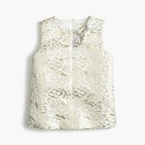J.Crew Girls' metallic jacquard top
