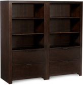 Tribeca Home Office Furniture, 2 Piece Set (Bunching Bookcases)
