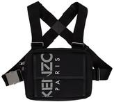 Kenzo Black Sport Logo Chest Rig Backpack