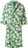 Rochas belted floral coat - women - Silk/Cotton/Viscose - 38