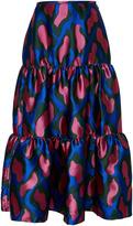 Cynthia Rowley Camo Brocade Maxi Skirt