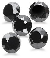 Mysticdrop 0.16-0.18 Cts of 2.00 mm AAA Round Matching ( 5 pcs ) Loose Black Diamond