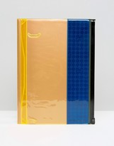 Marks Inc. Large Storage Reflective Notebook In Blue