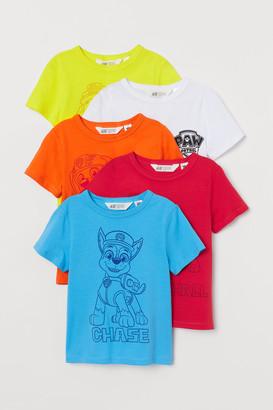 H&M 5-pack Printed T-shirts