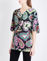 Emilio Pucci V-neck paisley-print jersey top