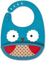 Skip Hop Zoo Fold & Go Silicone Bib - Owl