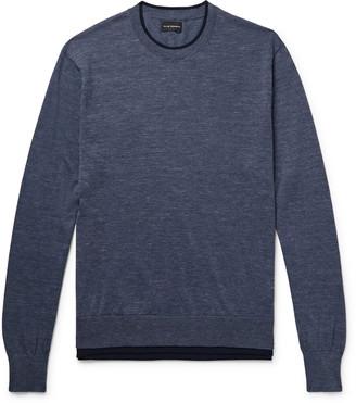 Club Monaco Layered Melange Cotton-Blend Sweater
