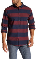 Tavik Long Sleeve Striped Woven Trim Fit Shirt