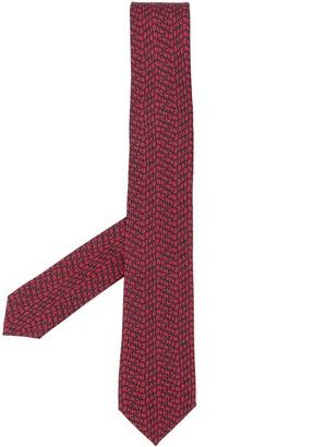 Givenchy Jacquard Logo Silk Tie