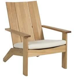 Adirondack Ashland Teak Chair Summer Classics Cushion Color: Cast Ash