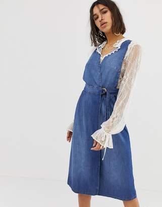 Free People keeping my cool denim dress-Blue